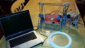 The complete 3D printer setup