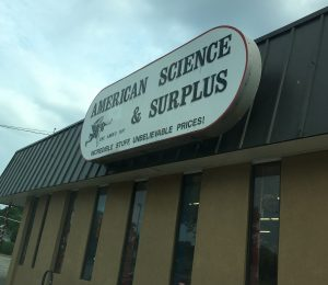 American Science and Surplus sign