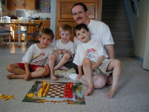 Chess set made out of Legos